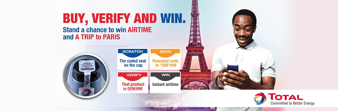 Buy, Verify and Win with TOTAL LUBRICANTS